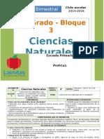 Plan 3er Grado - Bloque 3 Ciencias Naturales (2015-2016)