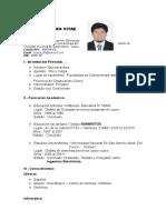 CV Ingeniero Electrico
