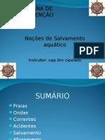Semana de Prevenção - Noções de Salvamento Aquático