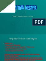 Pengantar Hukum Indonesia HUKUM TATA NEGARA