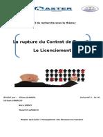 La Rupture Du Contrat-Licenciement-QUANDIL Siham-SMAITI Nora-ELAZZAOUI Youssef
