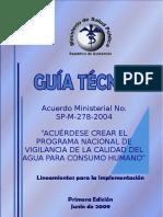 Acuerdo Ministerial No. SP M 278 2004