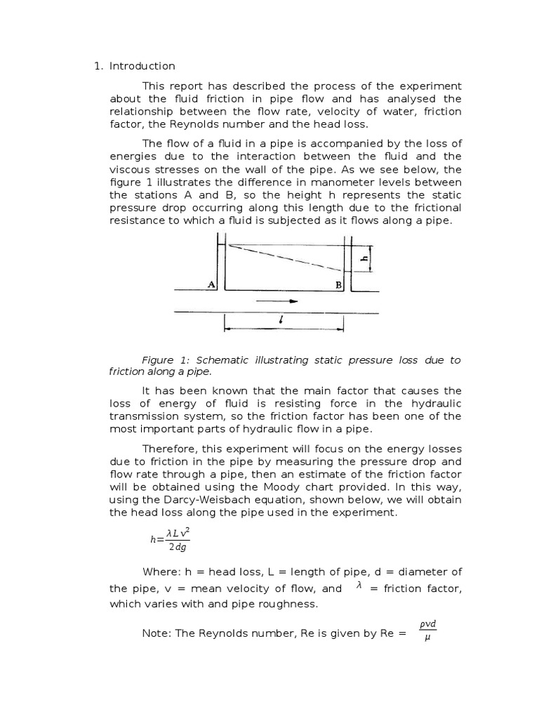 Water eng report 2 fluid dynamics reynolds number ccuart Choice Image