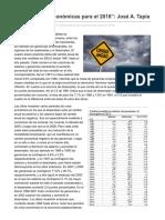 Marxismocritico.com-Perspectivas Económicas Para El 2016 José ATapia