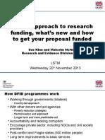 Dfid Presentation for Liverpool University Seminar Nov 13 Final