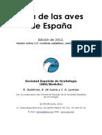 Lista de las aves de España