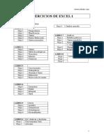 Ejercicios Excel 1
