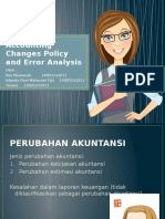 Accounting Changing Policy and Error Analysis