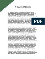 1.1 Conciencia Histórica