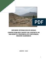 Informe de Estimacion de Riesgo Centro Poblado Jaguey