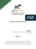 Actividad III- Organismos Del Comercio Internacional