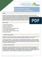 Academic Training Policy 2015 2016