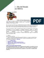 22 de Enero Fundacion Plurinacional de Bolivia