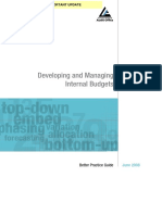Reading 2 Developing and Managing Internal Budgets