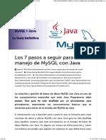 Manejo de MySQL Con Java