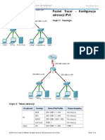 8.2.5.3 Packet Tracer - Configuring IPv6 Addressing Instructions