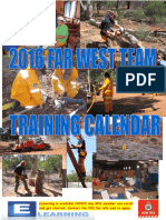 FAR WEST TEAM - 2016 Training Calendar