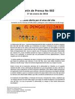 Boletín 002 El Cauca Alerta Por El Virus Del Zika