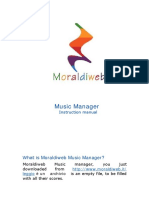 Instruction Manual Moraldiweb Music Manager