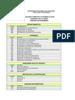 Horario Clases Examenes Segundo Periodo 2015 18112015