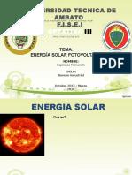 Energía Solar - Omar Paredes