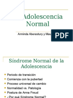 Síndrome Normal de La Adolescencia