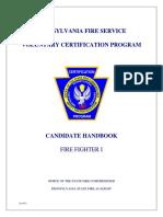Firefighter I Candidate Handbook[1]