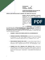 Demanda Contencioso Administrativa Nulidad de Resolucion Administrativa