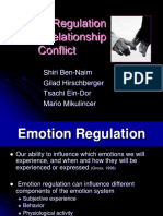 Emotion Regulation in Couples' Conflict