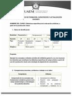 Didácticas Específicas de La Educación Artística.