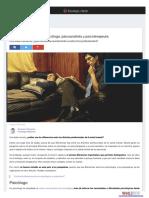 Diferencias Entre Psicologo Psicoanalista y Psicoterapeuta