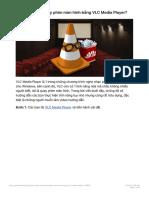 Làm cách nào quay phim màn hình bằng VLC Media Player