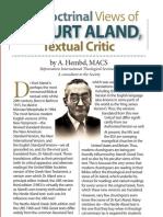 The Doctrinal Views DR KURT ALAND