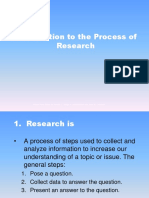 Introduction to the Process of Research