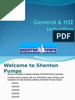 Shenton General HSE Induction - Draft 1