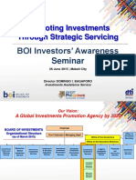 BOI - Promoting Investments Through Servicing