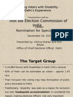 CEO,Delhi, Voters With Disability