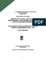 SCR Constitution (Scheduled Castes) Orders (Amendment) Bill, 2014