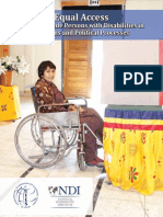 Equal Access How to Include Persons With Disabilities in Elections and Political Processes 2