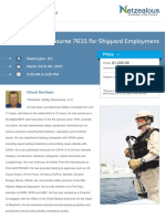 Maritime Safety Course 7615 for Shipyard Employment