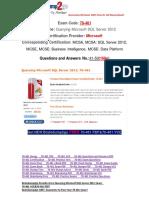 [PDF&VCE]Braindump2go 70-461 Practice Test Free 41-50