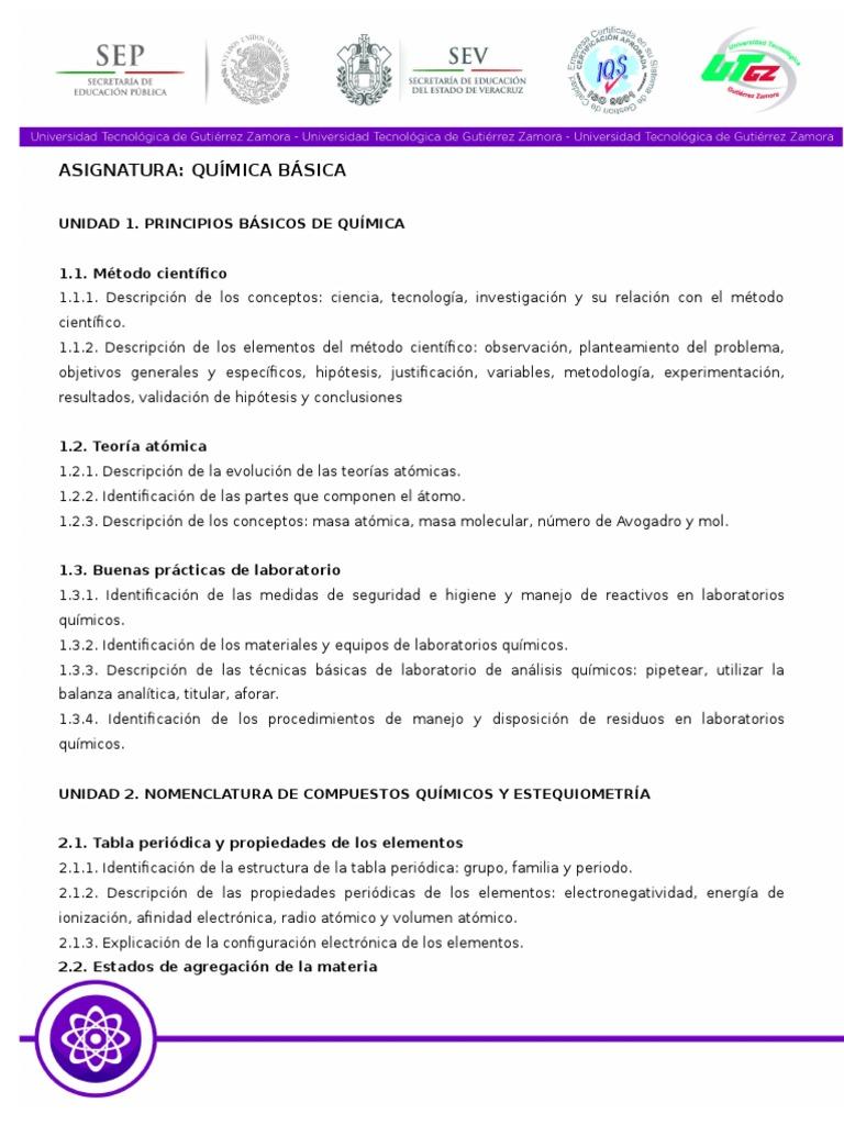 Temario qumica bsica urtaz Image collections