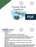 UK Trip Guidelines