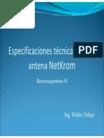 PPT Especificaciones Tecnicas de Una Antena