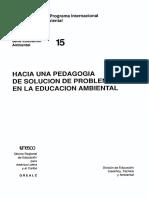 Hacia una pedagogía de resolución de problemas en la Educación Anbiental