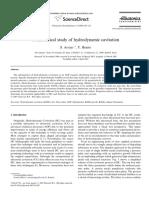 A Theoretical Study of Hydrodynamic Cavitation