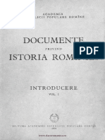 Documente privind Istoria României. Introducere I