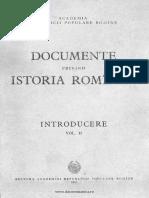 Documente privind Istoria României. Introducere II