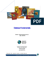 Database Fundamentals Handout