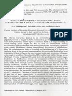 Management Norms for Enhancing Larval Survivality of Magur, Clarias Batrachus (Linnaeus)